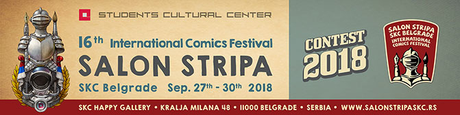 INTERNATIONAL COMICS FESTIVAL CONTEST 2018
